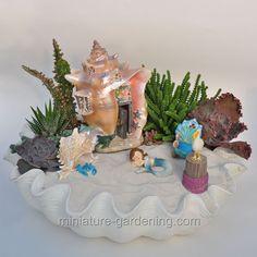 Mermaid W Shellhouse: #fairyhouses