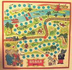 Vintage Babar board game