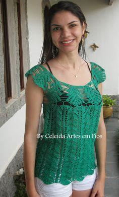 Olá! Adoro folhas seja em tricô ou em crochê! E também gosto de combinar pontos e cores. O verde é uma das cores fortes da estação e eu ado...