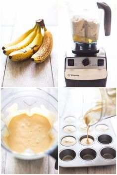 Blender Almond Flour Paleo Banana Muffins Recipe - sweetened naturally with bananas and coconut sugar (paleo, gluten free, dairy free, refined sugar free)