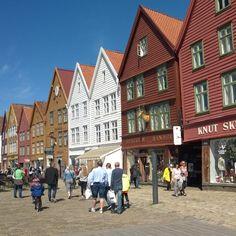 Bryggen ve městě Bergen, Hordaland