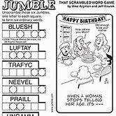 Jumble Puzzles to Print Word Puzzles Printable, Free Printable Word Searches, Word Search Puzzles, Jumble Word Puzzle, Jumbled Words Game, Daily Jumble, Graduation Words, Scramble Words