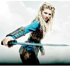 Lagertha with a sword