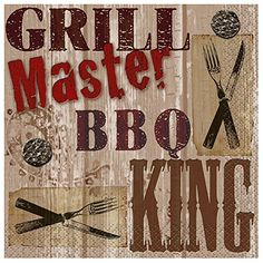 Grill Master BBQ Beverage Napkins 24ct >>> Check this awesome product by going to the link at the image.  This link participates in Amazon Service LLC Associates Program, a program designed to let participant earn advertising fees by advertising and linking to Amazon.com.
