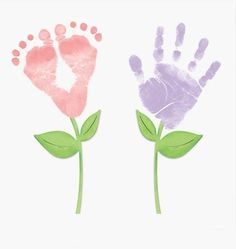 Handprint and footprint painting | PicturesCrafts.com