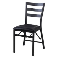 Linon Arista Folding Dining Chairs with Wood Back - Set of 2 - LHD1298-1