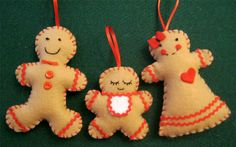 Ginger Family Christmas Ornaments ★ Tutorial ★ So Cute! (scroll down...)