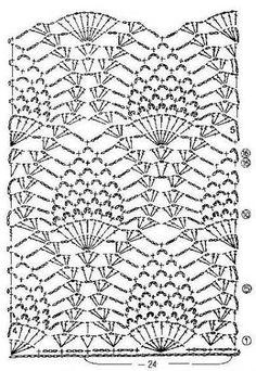 SUGESTAO GRAFICO Vestido de crochê em ponto abacaxi