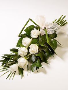 Simple Rose Sheaf available from www.sussexfunerals.com £35