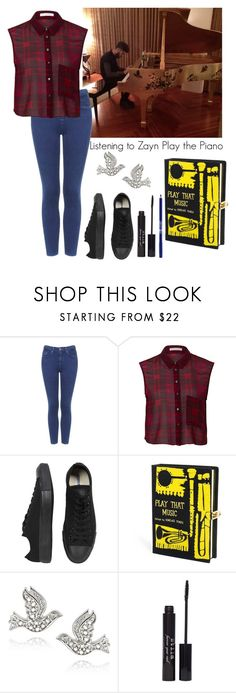 """""""Listening to Zayn Play the Piano"""" by elise-22 ❤ liked on Polyvore featuring Topshop, OPTIONS, Converse, Olympia Le-Tan, DB Designs, Stila, Lord & Berry, zaynmalik and piano"""