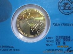 Reserve Bank of India Platinum Jubilee Souvenir Gold Coin - New Coins - Stamps - Dum Dum, Kolkata | QuikrGoods