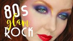 glam rock makeup tutorial with a lot of BRIGHT colors in this flashback trip in time! This color crazy glam look is inspired by musicians like Bon Jo. 80s Eye Makeup, Glam Rock Makeup, 80s Makeup Looks, 80s Makeup Trends, 80s Glam Rock, 1980s Makeup, Party Makeup Looks, Nail Trends, Eyeshadow Makeup