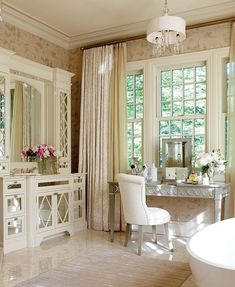 Lovely...graceful with a hint of Hollywood Regency...feminine
