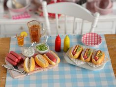 Miniature Hot Dog Prep Set by CuteinMiniature on Etsy