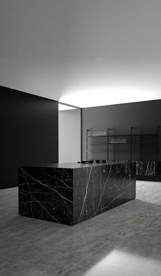 Monolith Kitchen in Nero Marquina by Piqu