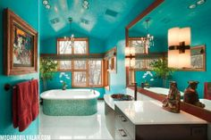 turqoise bath