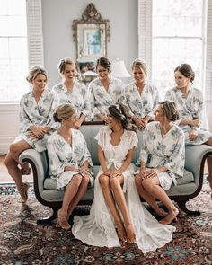 Caitlin Covington, Southern Curls and Pearls Wedding , Cute matching robes for the bridal party ! ♥ Caitlin Covington, Southern Curls and Pearls Wedding , Cute matching robes for the bridal party ! Before Wedding, On Your Wedding Day, Perfect Wedding, Dream Wedding, Space Wedding, Wedding Picture Poses, Wedding Poses, Wedding Group Photos, Wedding Photo List