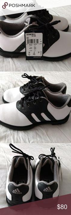 NWT BOYS ADIDAS Z-TRAXION GOLF SHOES NWT BOYS SIZE 2 1/2 Z-TRAXION GOLF SHOES WITH SPIKES adidas Shoes