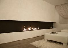 EcoSmart Fire XL900 bio-ethanol burner featured in Private Residence, Turkey Ethanol fireplace