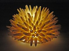 Spikes Wall Light by Lilach Lotan - (Ceramic Wall Light) Ceramic Wall Lights, Ceramic Light, Ceramic Table Lamps, Ceramic Bowls, Small Pendant Lights, Pendant Lighting, Mermaid Cave, The Potter's Wheel, Lamp Design