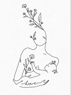 Mommy Tattoos, Body Art Tattoos, Roots Drawing, Art Sketches, Art Drawings, Breastfeeding Tattoo, Lino Art, Floral Drawing, Abstract Line Art