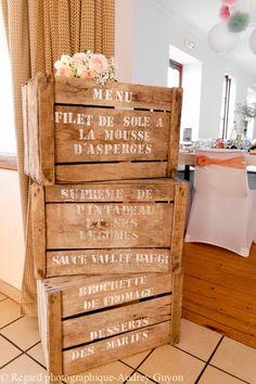 Déco mariage - www.lartdelacaisse.fr  www.regard-photographique.com