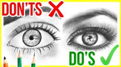 DO'S & DON'TS: How to Draw Realistic Eyes | Step by Step Drawing Tutorial