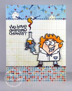 Card by PS DT Emily Leiphart using the PS stamp set Great Chemistry