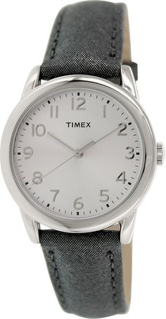 Timex Womens Classic Quartz Silver Dial Strap T2P081 >>> Learn more by visiting the image link.