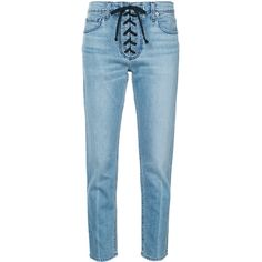 A.L.C. lace-up detail skinny jeans (€305) ❤ liked on Polyvore featuring jeans, pants, bottoms, blue, skinny fit jeans, skinny fit denim jeans, denim skinny jeans, cut skinny jeans and lace up front jeans