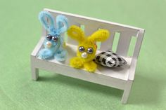 Make a fluffy rabbit using soft chenille stems. They're easy to make and so cute!