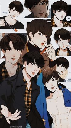 [manhwa: our omega leadernim on webtoon] Jungkook Fanart, Vkook Fanart, Animes Wallpapers, Cute Wallpapers, Taekook, Anime Lindo, Handsome Anime Guys, Cute Anime Wallpaper, Manhwa Manga