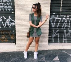 cute casual dress with white shoes or some converse Fall Outfits, Casual Outfits, Summer Outfits, Cute Outfits, Teen Fashion, Fashion Outfits, Fashion Trends, Mode Inspiration, Feminine Style