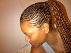 Pineapple cornrow braids