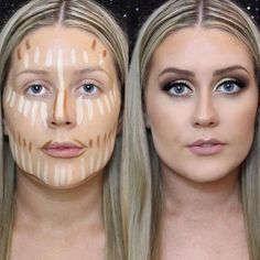 Several Important Tips on How To Contour for Real Life Easy Contouring for B How To Blend Contouring, Easy Contouring, Contouring For Beginners, Makeup For Beginners, Contouring And Highlighting, Contour With Eyeshadow, Highlighter Makeup, Contour Makeup, Makeup Brush Set
