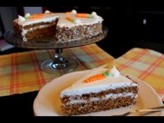 TARTA DE ZANAHORIAS (CARROTS CAKE SIN LACTOSA)