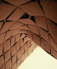 Laser-cut cork surfaces, created by London-based designer Yemi Awosile, are made from the byproduct of wine cork production. Available in raw cork composite grain, glossy black, or a selection of metallic finishes, the product is suited for interior applications such as wall panels and room dividers. The surface features acoustic and thermal insulating properties naturally found in cork.  yemiawosile.co.uk