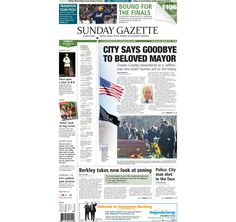 The front page of the Taunton Daily Gazette for Sunday, Nov. 30, 2014.