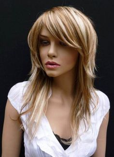 As Brown blonde hair with blond