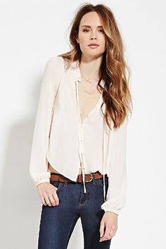 Contemporary Buttoned Blouse