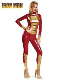 Iron Man Mark 42 Bodysuit Sassy Costume   Womens Iron Man Costumes