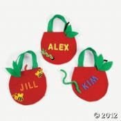 apple canvas bags for goodie bags - make $5 dozen