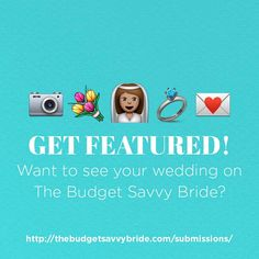 Did you plan a beautiful and budget-friendly wedding (or are you in the process of doing so?) At The Budget Savvy Bride we love featuring real weddings done on budgets of $20k or less to show couples around the world that it can be done!!  Want to see your wedding day featured and inspire thousands of couples currently planning their own weddings? Visit the link in our profile and click this image to get all the details on how to submit!! We can't wait to see your beautiful weddings…