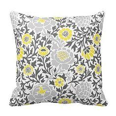 Shop Retro Floral Damask Throw Pillow created by jenniferstuartdesign. Coral Throw Pillows, Yellow Pillows, Throw Pillow Cases, Retro Floral, Decorative Pillow Covers, Custom Pillows, Damask, Flower Designs, Girls