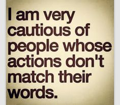 Always be cautious!