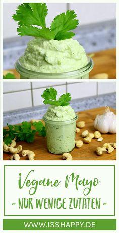 Du möchtest Mayonnaise selber machen? Dieses gesunde Rezept kommt ohne Ei und Öl aus und ist komplett vegan. Du brauchst nur 5 Zutaten und 5 Minuten!    #vegan #veganleben #veganessen #veganemayo #veganemayonnaise #gesundemayo #cashewmayo #mayoselbermachen #veganemayoselbermachen #veganerdip #gesunderezepte #gesundesessen #gesundeernährung #vollwertig #vollwertigeernährung #glutenfrei #zuckerfrei #gesund