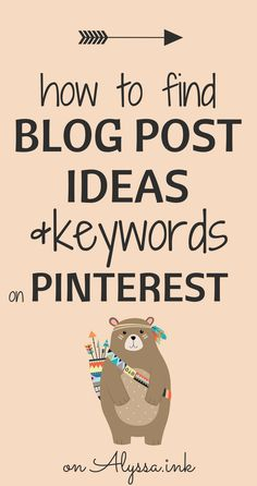 How to find Blog Post Ideas on Pinterest. The techniques I use to: Discover blog post ideas, Create content my audience actually wants, Find keywords for my blog posts to help with SEO on Pinterest.