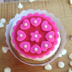 Hot Pink Valentines for your Sweethearts Cupcake, Cake & Cookies. Set of 12 (one dozen)