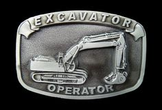 Excavator Operator Construction Worker Metal Belt Buckles