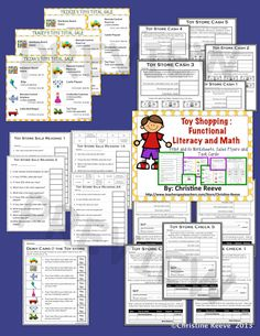 Have students working on life skills? Check out this toy store sale flyers set of activities for money, functional literacy, check writing, cash, and debit card use set up at different levels for different levels of skills. $4
